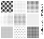 halftone dots seamless pattern... | Shutterstock .eps vector #712989679