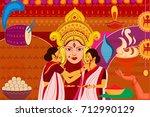 vector illustration of happy...   Shutterstock .eps vector #712990129