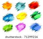 black ink blots isolated on... | Shutterstock .eps vector #71299216