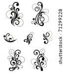 floral patterns for design...   Shutterstock .eps vector #71299228