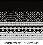 knitted seamless decorative... | Shutterstock .eps vector #712996339