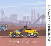 mining industry flat...   Shutterstock .eps vector #712997749