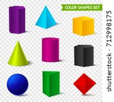 realistic geometric shapes... | Shutterstock .eps vector #712998175