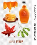 maple syrup isolated elements... | Shutterstock .eps vector #712999441