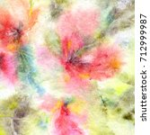 floral background. watercolor... | Shutterstock . vector #712999987