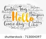 hello word cloud in different... | Shutterstock .eps vector #713004397