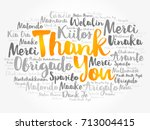 thank you word cloud in... | Shutterstock .eps vector #713004415
