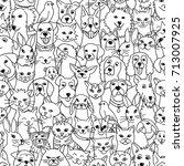 hand drawn seamless pattern...   Shutterstock .eps vector #713007925
