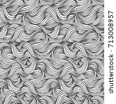 hand drawn seamless wave... | Shutterstock .eps vector #713008957