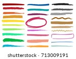 markers highlight color stripes.... | Shutterstock .eps vector #713009191
