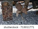 Rusty Rudder And Boat Propeller ...