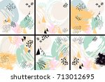 vector abstract background with ... | Shutterstock .eps vector #713012695
