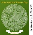 international peace day... | Shutterstock .eps vector #713014561