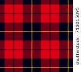 scottish plaid in red  black ... | Shutterstock .eps vector #713015095