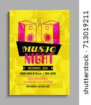 music party template  party... | Shutterstock .eps vector #713019211