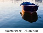 Rowboat In Sea