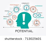 potential design concept.... | Shutterstock .eps vector #713025601