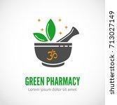 black vector pharmaceutical... | Shutterstock .eps vector #713027149