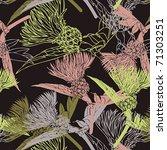 cornflowers colorful pattern | Shutterstock .eps vector #71303251