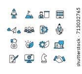 business and startup icons set... | Shutterstock .eps vector #713032765