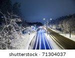 traffic light stream in city at ...   Shutterstock . vector #71304037