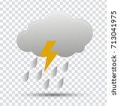 clouds thunder rain | Shutterstock .eps vector #713041975