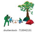 relaxation by camp vector design | Shutterstock .eps vector #713042131