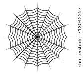 spider web vector symbol icon... | Shutterstock .eps vector #713042257