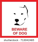 beware of dog sign  symbol ... | Shutterstock .eps vector #713042485