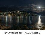 herceg novi  montenegro. night... | Shutterstock . vector #713042857