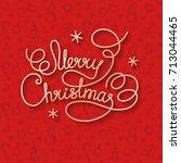merry christmas white lettering ...   Shutterstock .eps vector #713044465