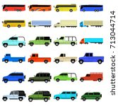 transport icons   Shutterstock .eps vector #713044714