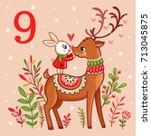 vector christmas advent... | Shutterstock .eps vector #713045875