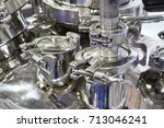 pharmaceutical equipment  a lot ... | Shutterstock . vector #713046241