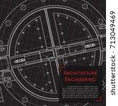 vector technical blueprint of... | Shutterstock .eps vector #713049469