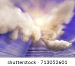 stairs to heaven idea 3d... | Shutterstock . vector #713052601