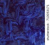 digital abstract blue lines 3d... | Shutterstock . vector #713053171