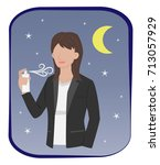 woman in formal suit are... | Shutterstock .eps vector #713057929