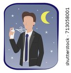 man in formal suit are spraying ... | Shutterstock .eps vector #713058001