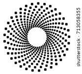 circular geometric motif.... | Shutterstock .eps vector #713058355