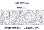 doodle vector illustration of... | Shutterstock .eps vector #713060491