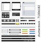 interface elements   Shutterstock .eps vector #71306182