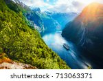 breathtaking norway view of...