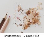 color pencils on white... | Shutterstock . vector #713067415