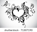 Heart Frame With Butterfly