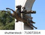 memorial of sultan mehmed ii... | Shutterstock . vector #713072014
