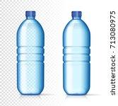 transparent plastic bottles... | Shutterstock .eps vector #713080975