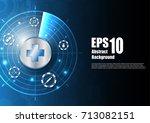 vector abstract background.... | Shutterstock .eps vector #713082151