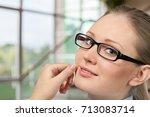 glasses. | Shutterstock . vector #713083714