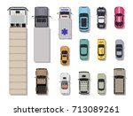 collection of various vehicles. ... | Shutterstock .eps vector #713089261